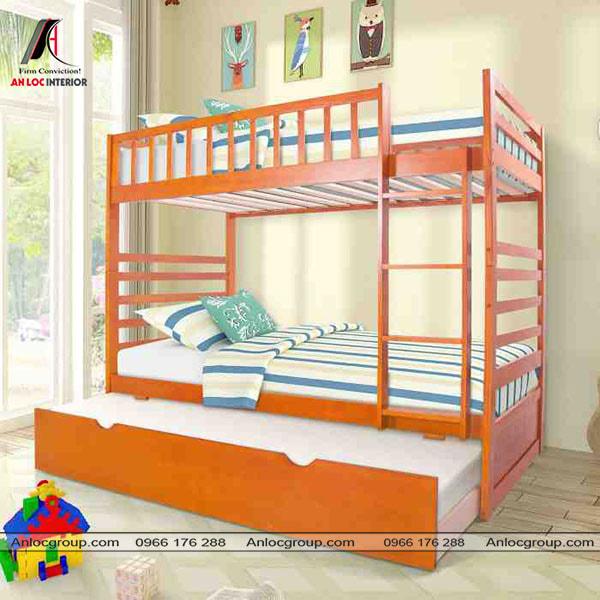 Mẫu 31 - Giường tầng đơn giản từ gỗ tự nhiên