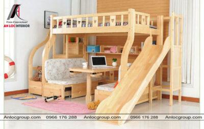 Giường tầng cho bé có cầu trượt