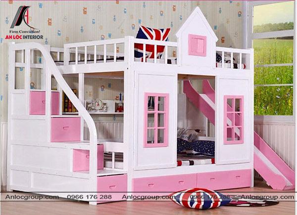 Mẫu 2 - Tạo hình ngôi nhà cho giường tầng của bé