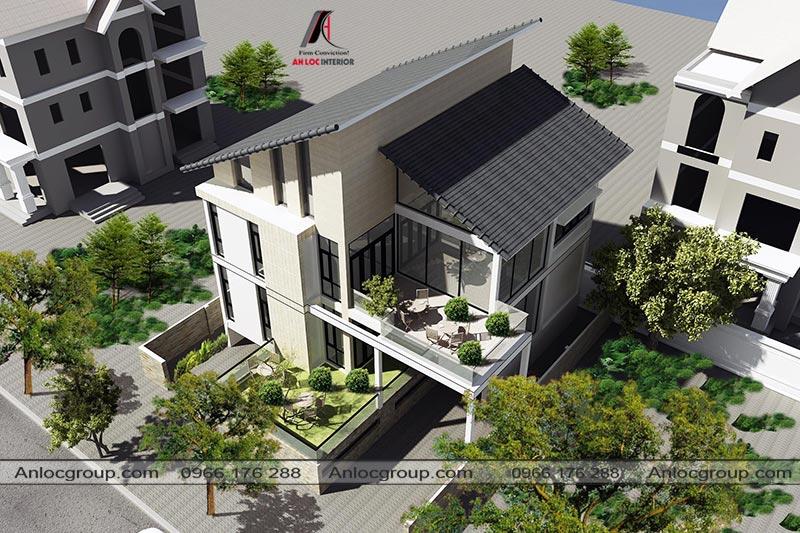 Kiến trúc biệt thự 2,5 tầng đẳng cấp