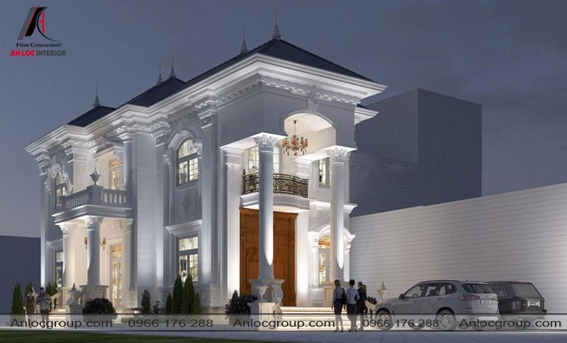 Thiết kế biệt thự cao cấp phong cách tân cổ điển