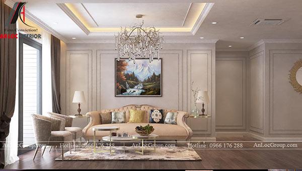 Thiết kế căn hộ tân cổ điển 80m2 tại chung cư Thông Tấn Xã Việt Nam