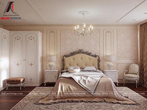 Thiết kế phòng ngủ căn hộ tân cổ điển 80m2