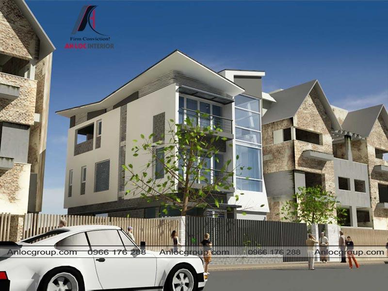 Thiết kế ngoại thất nhà phố đẹp hiện đại