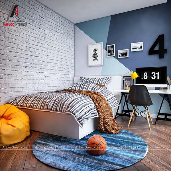 Thiết kế phòng ngủ trẻ em chung cư 80m2