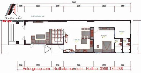 Nhà cấp 4 3 phòng ngủ 5x20m có gác lửng 2
