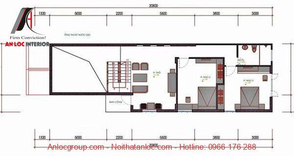 Nhà cấp 4 3 phòng ngủ 5x20m có gác lửng 3