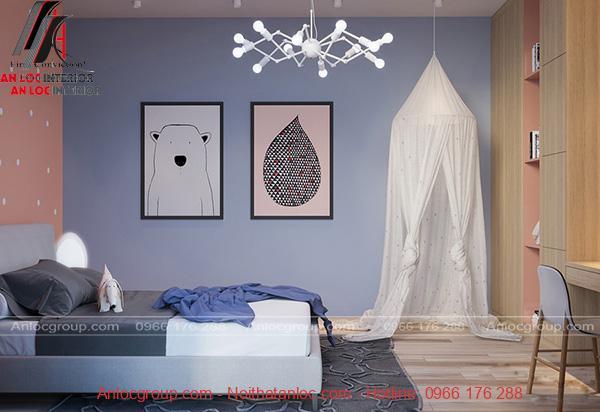 Thiết kế nội thất phòng ngủ con với cách sử dụng màu sắc hiệu quả, cuốn hút