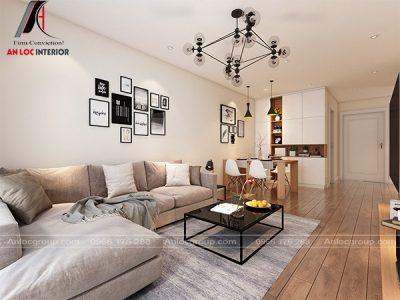 Đèn thả trần có kiểu dáng bắt mắt tạo nên điểm nhấn cho nội thất phòng khách