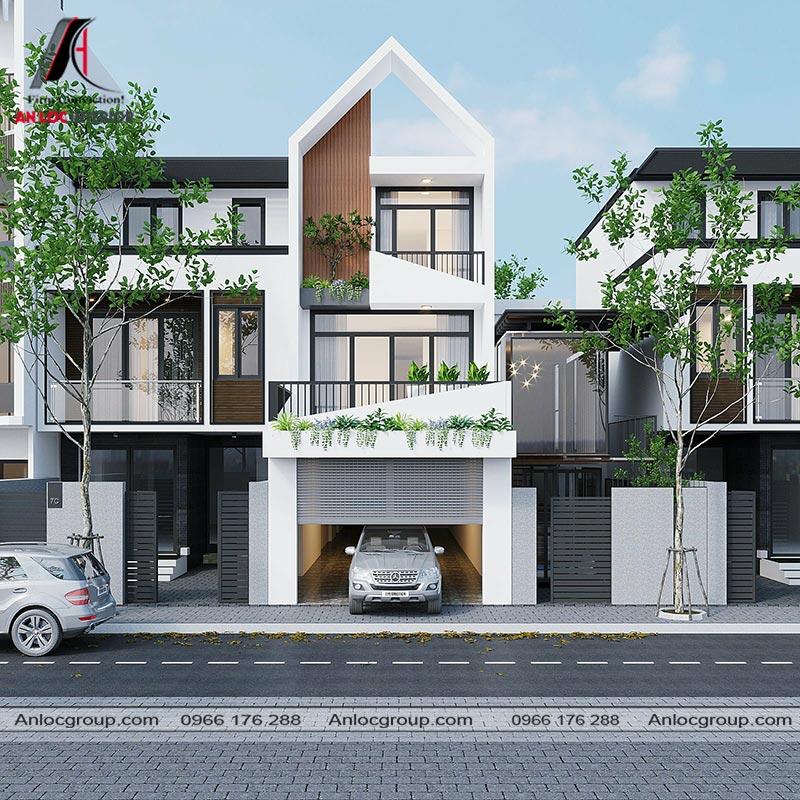Thiết kế kiến trúc nhà phố 3 tầng tại Bình Dương