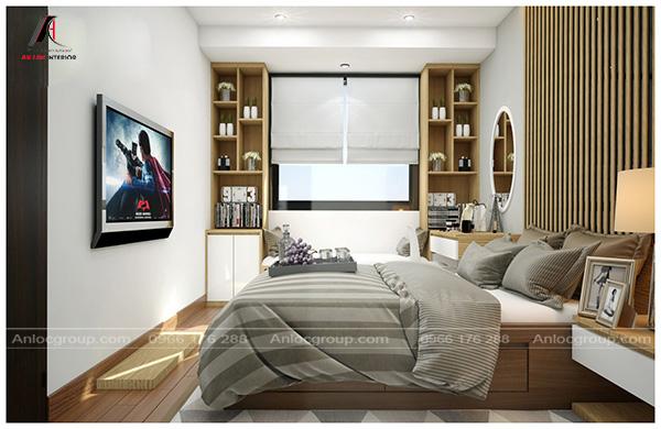 Thiết kế nội thất chung cư tại hà Nội với không gian nghỉ ngơi thỏa mái, dễ chịu