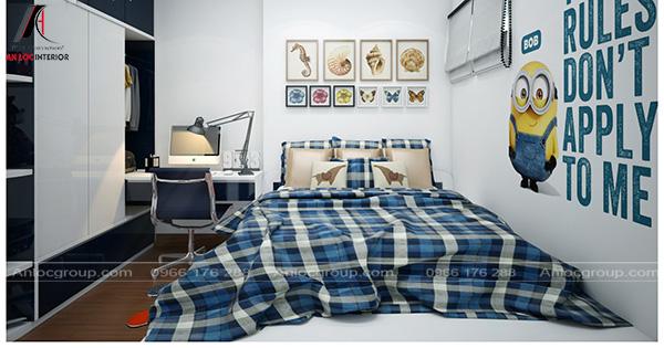 Nội thất phòng ngủ con với cách sử dụng màu sắc và họa tiết trang trí ấn tượng, cuốn hút