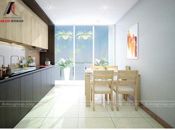 Thiết kế nội thất bếp tại chung cư Hà Nội