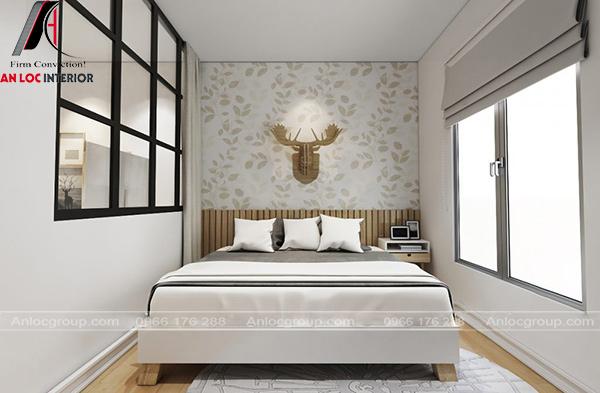 Phòng ngủ con sử dụng giấy dán tường độc đáo, lạ mắt