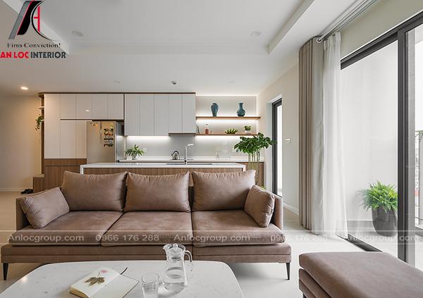 Ghế sofa sử dụng chất liệu nỉ nhung hiện đại, tinh tế