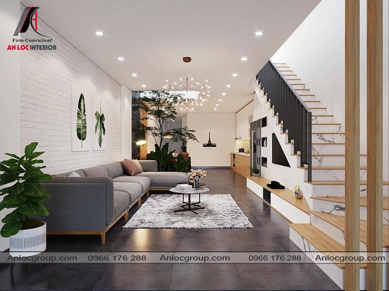Thiết kế nội thất phòng khách nhà phố 3 tầng tại Bình Dương - View 1