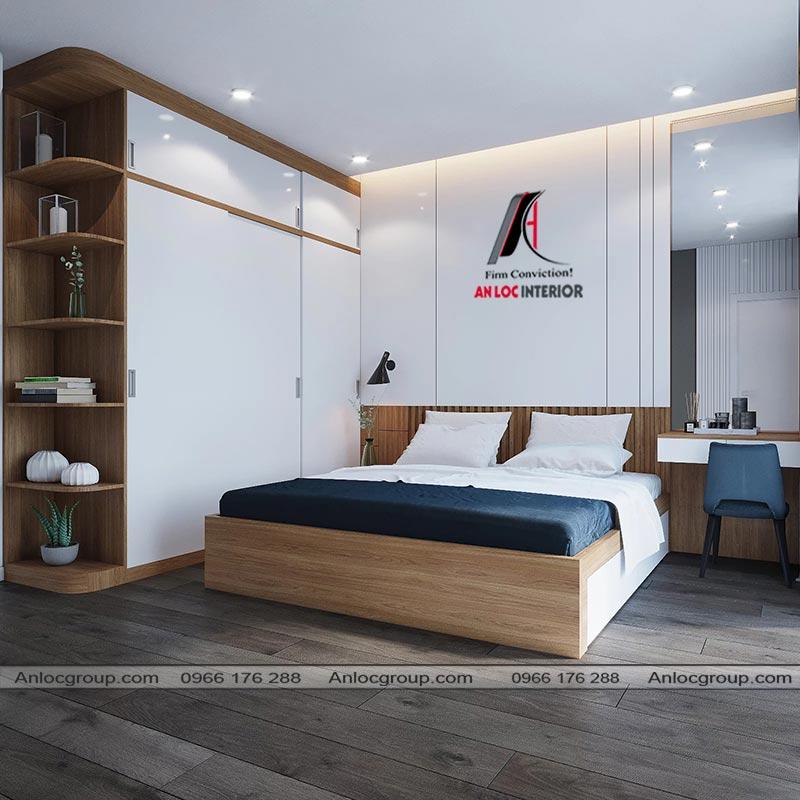 Thiết kế nội thất phòng ngủ master nhà phố 3 tầng tại Bình Dương - View 1