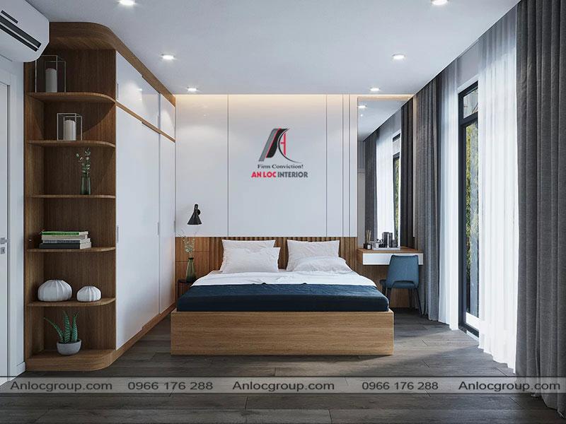 Thiết kế nội thất phòng ngủ master nhà phố 3 tầng tại Bình Dương - View 2