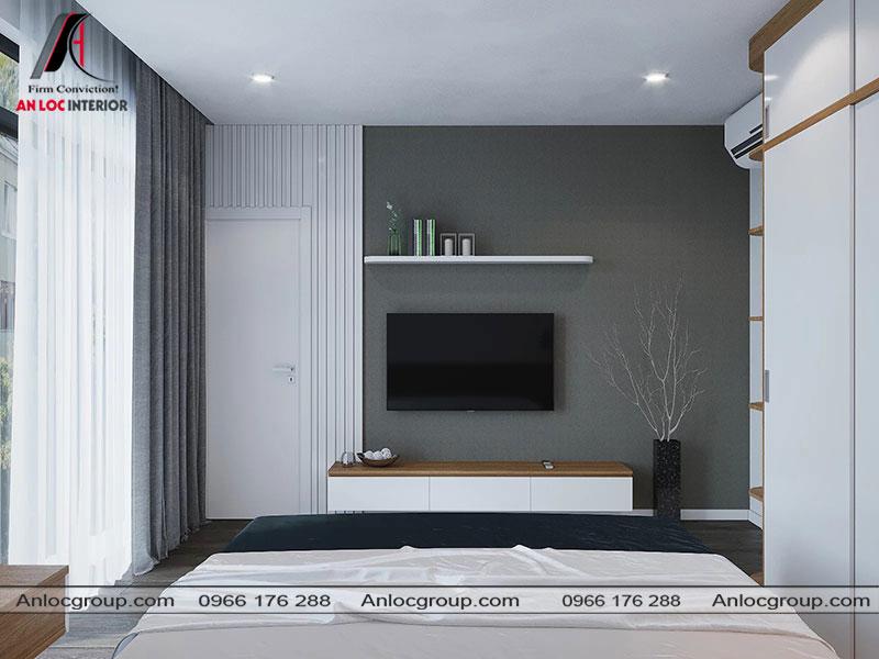 Thiết kế nội thất phòng ngủ master nhà phố 3 tầng tại Bình Dương - View 3