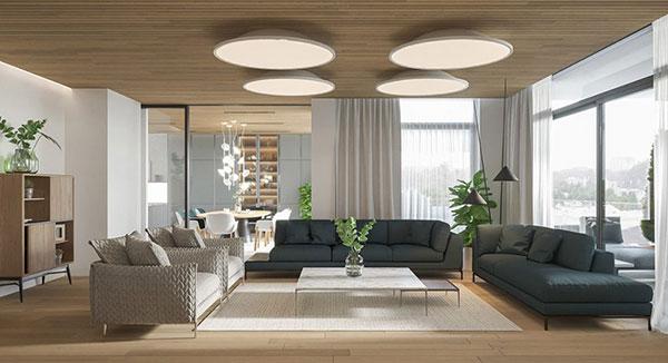 Bố trí nội thất hài hòa trong phong cách nội thất hiện đại