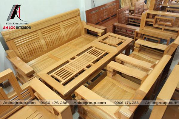 Bàn ghế gỗ mit