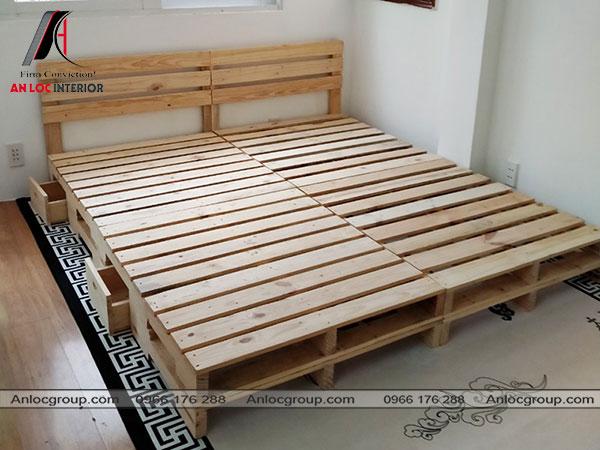 Giường ngủ pallet gỗ