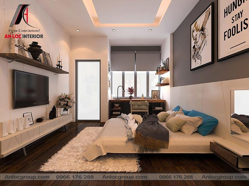 Mẫu 33 - Thiết kế nội thất phòng ngủ nhà ống hiện đại