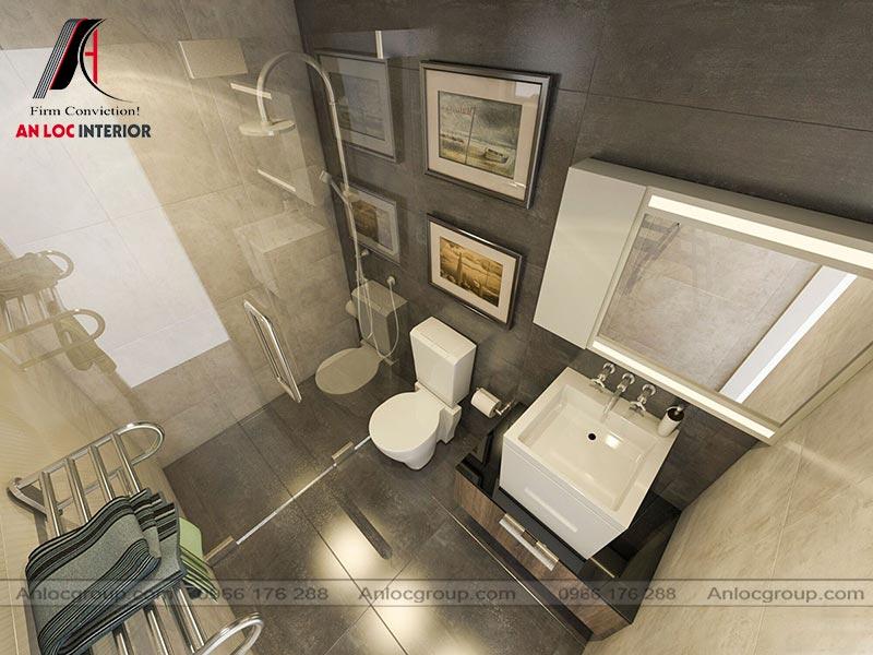 Mẫu thiết kế nội thất nhà ống tại Đà Nẵng WC
