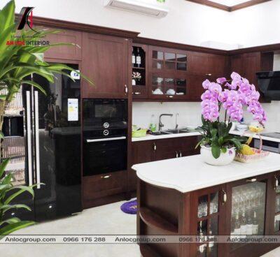 Thi công phòng bếp biệt thự tại KĐT Phùng Khoang