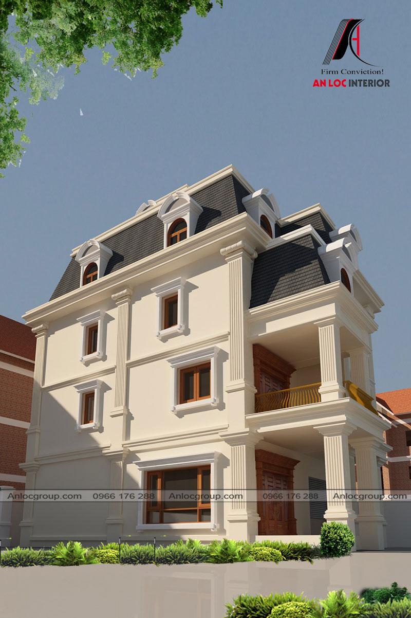 Thiết kế kiến trúc biệt thự Sài Đồng 150m2
