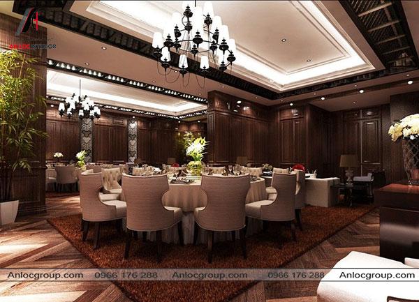 Mẫu 27 - Thiết kế nhà hàng phong cách Châu Âu