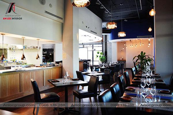Mẫu 30 - Nhà hàng phong cách Châu Âu đơn giản, tinh tế