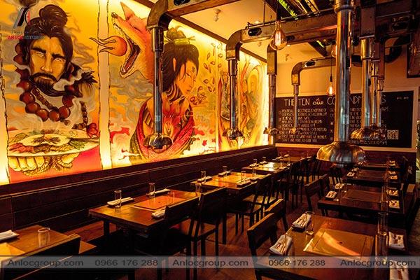 Mẫu 8 - Thiết kế nhà hàng lẩu nướng Hàn Quốc