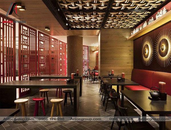 Mẫu 10 - Thiết kế nhà hàng kiểu Nhật
