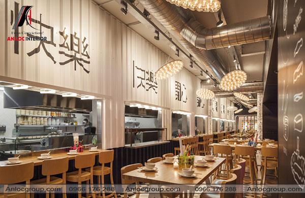 Mẫu 14 - Thiết kế nội thất nhà hàng Nhật Bản