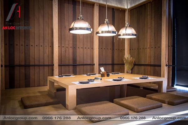Mẫu 15 - Không gian riêng tư thường thấy trong nhà hàng Nhật
