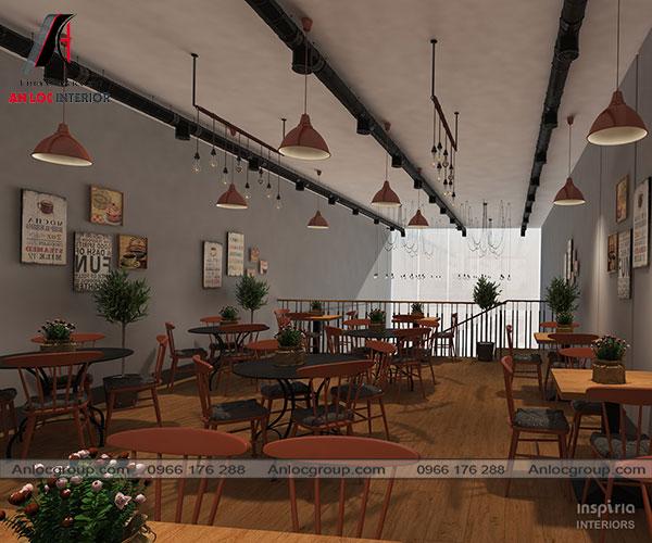 Mẫu 42 - Không gian nhà hàng vintage nhẹ nhàng, sâu lắng