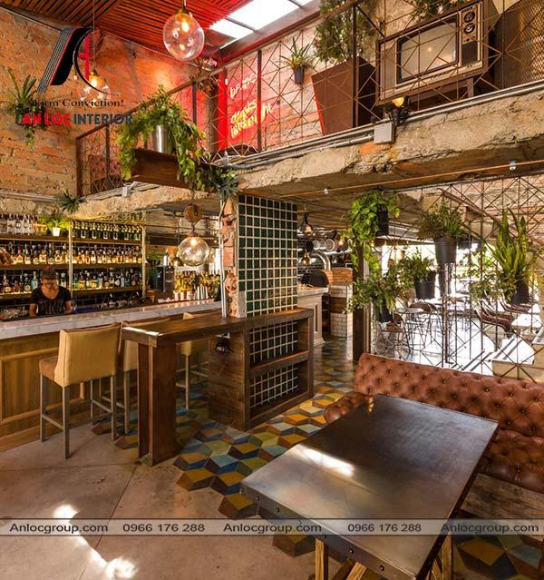 Mẫu 45 - Nhà hàng phong cách Vintage hòa nhập với thiên nhiên