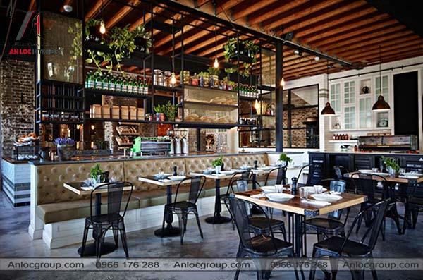 Mẫu 46 - Nhà hàng phong cách Vintage đẹp