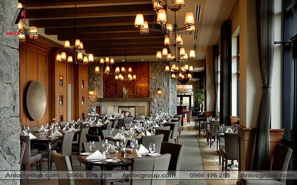 Mẫu 50 - Nhà hàng kết hợp Vintage và Industrial
