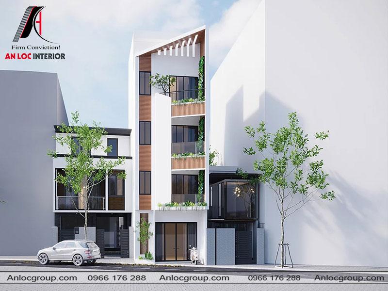 Thiết kế kiến trúc nhà phố tại Hà Nội