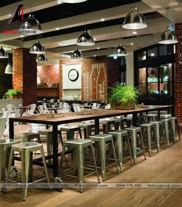 Mẫu 52 - Nhà hàng mang vẻ đơn giản và thân thuộc
