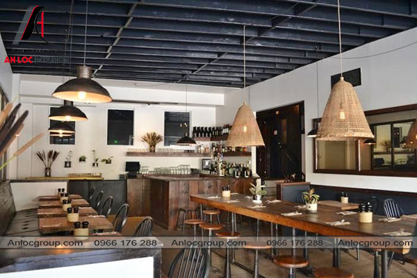 Mẫu 57 - Nội thất nhà hàng Conutry Style