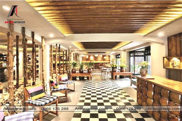 Mẫu 59 - Thiết kế không gian nội thất nhà hàng Conutry Style