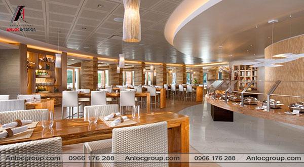 Mẫu 17 - Thiết kế nhà hàng theo phong cách hiện đại