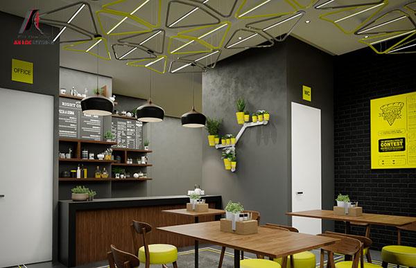 Mẫu 25 - Nhà hàng hiện đại thông thoáng, rộng rãi