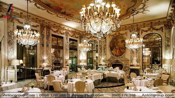 Mẫu 38 - Thiết kế nhà hàng cao cấp phong cách cổ điển