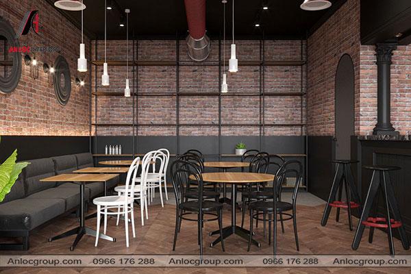 Mẫu 40 - Nhà hàng cổ điển kết hợp với phong cách công nghiệp