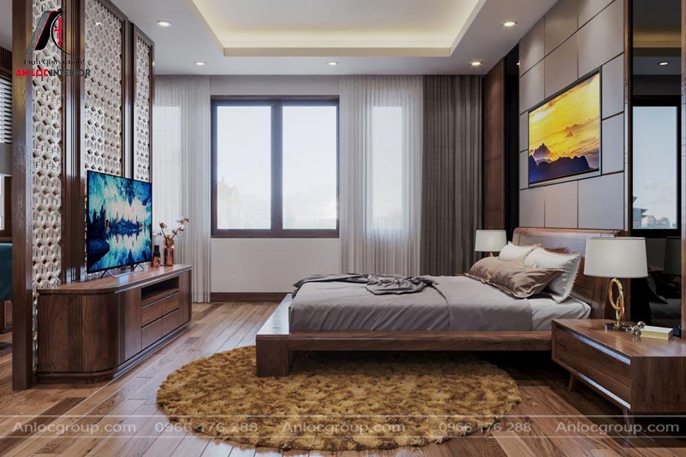 Thiết kế phòng ngủ nhà phố 320m2 tại Thái Nguyên