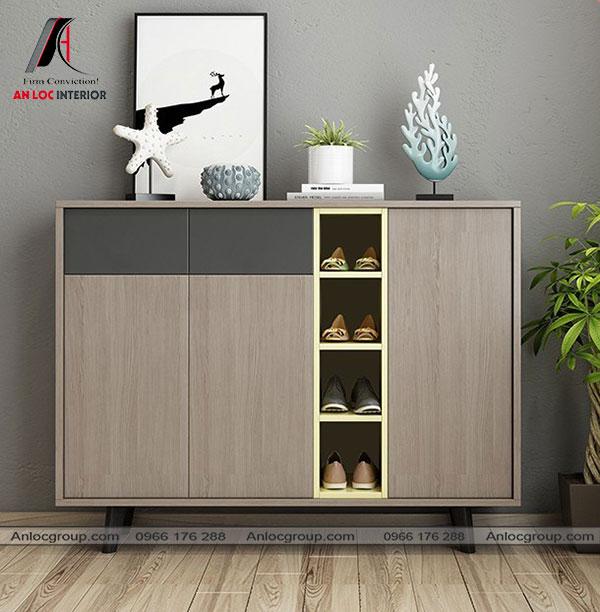 Mẫu 28 - Tủ gỗ đựng giày dép